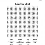 Healthy Diet Word Search   Wordmint