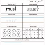 High Frequency Words Printable Worksheets | Teaching | Sight