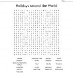 Holidays Around The World Word Search   Wordmint