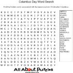 Host A Columbus Day Word Search Contest To See Who Can