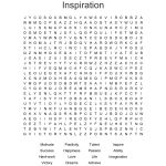 Inspiration Word Search   Wordmint