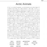 It's All About The Arctic Word Search   Wordmint