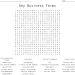 Key Business Terms Word Search   Wordmint