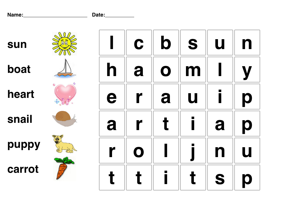 Kids Word Puzzle Games Free Printable | Word Games For Kids
