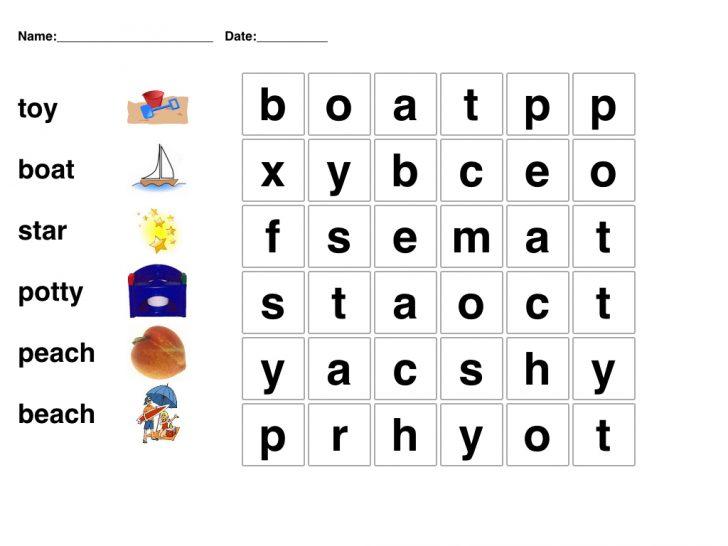Preschool Word Search Printable