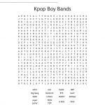 Kpop Boy Bands Word Search   Wordmint