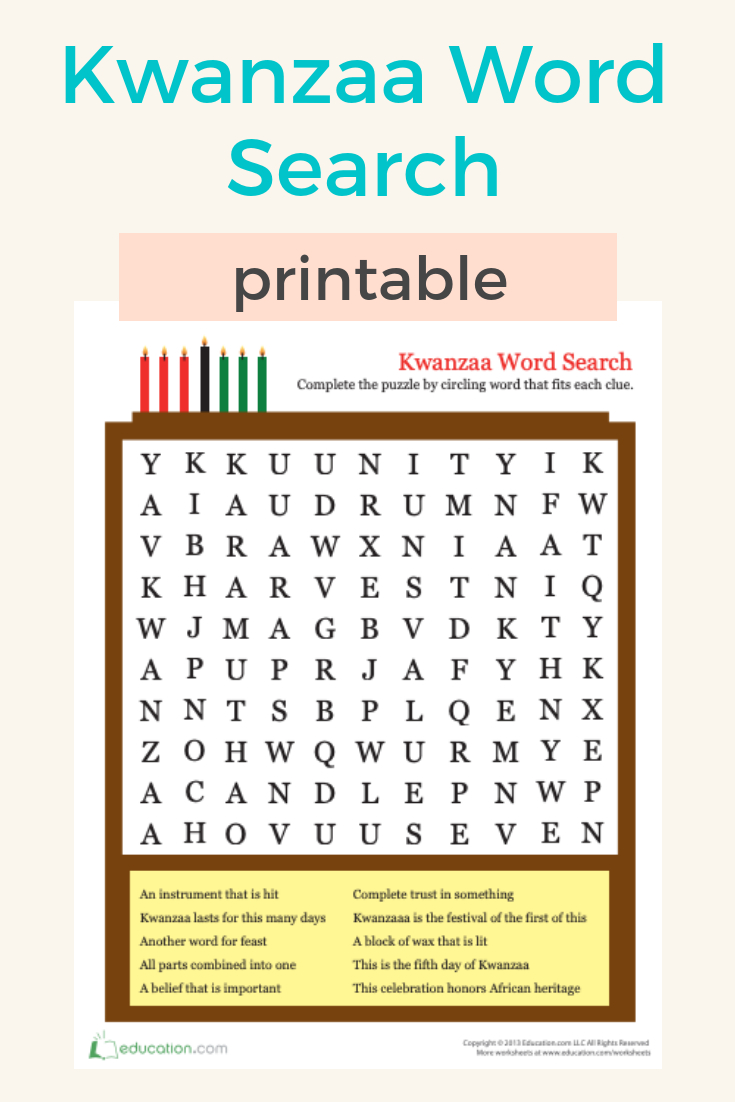 Kwanzaa Word Search