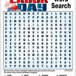 Labor Day Word Search | Kids Learning Activities