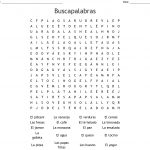 Las Comidas 7 Word Search Answers Printable Spanish