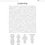 Leadership Word Search   Wordmint