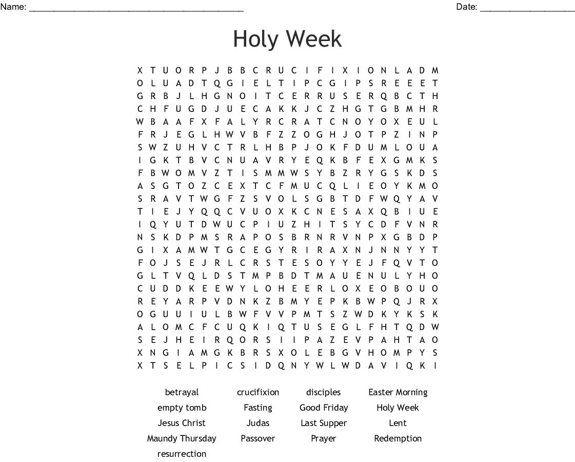 Lent Word Search - Wordmint