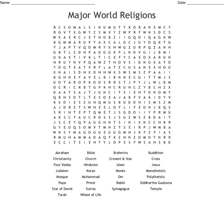 Free Printable Religious Word Searches