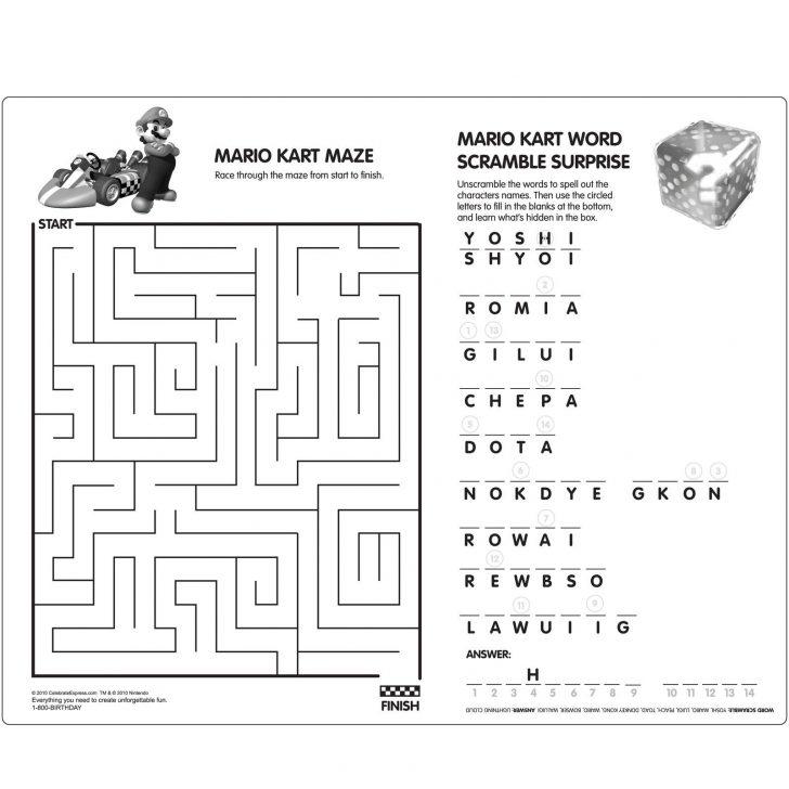 Super Mario Word Search Printable