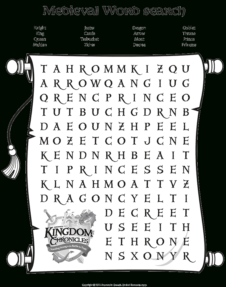 Medieval Word Search | Middeleeuwen