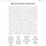 Mental Health Awareness Word Search   Wordmint