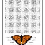 Monarch Butterfly Word Search For Kids   Woo! Jr. Kids