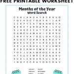 Months Of The Year Word Search Free Printable For Kids