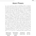 Moon Phases Word Search   Wordmint