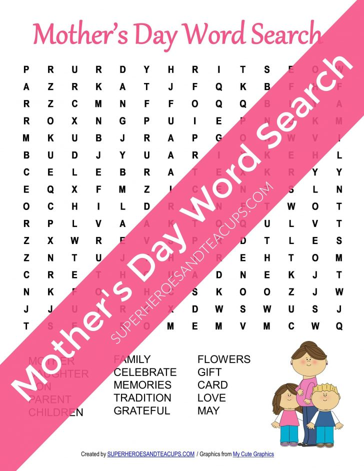 Mother's Day Word Search Printable Free