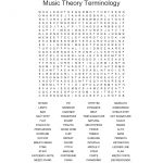 Musical Terms Word Search   Wordmint
