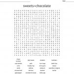 Names Of Sweets Word Search   Wordmint
