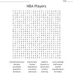 Nba Players Word Search   Wordmint