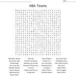 Nba Teams Word Search   Wordmint