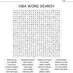 Nba Word Search   Wordmint