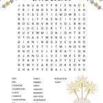 New Year's Word Search Free Printable