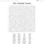 Nfl Football Teams Word Search   Wordmint