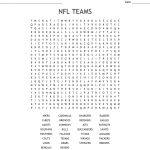 Nfl Teams Word Search   Wordmint