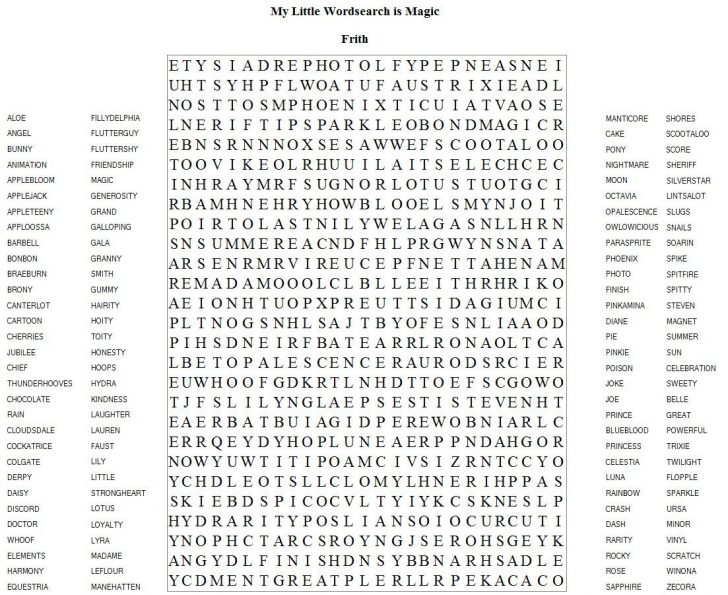 Free Printable Word Search Puzzles Chocolate
