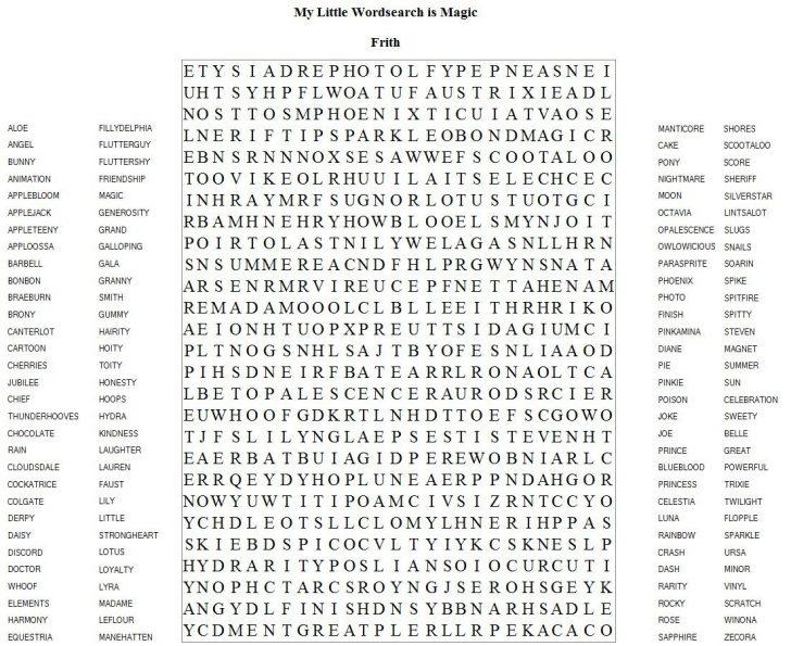 Hard Word Search Printable PDF