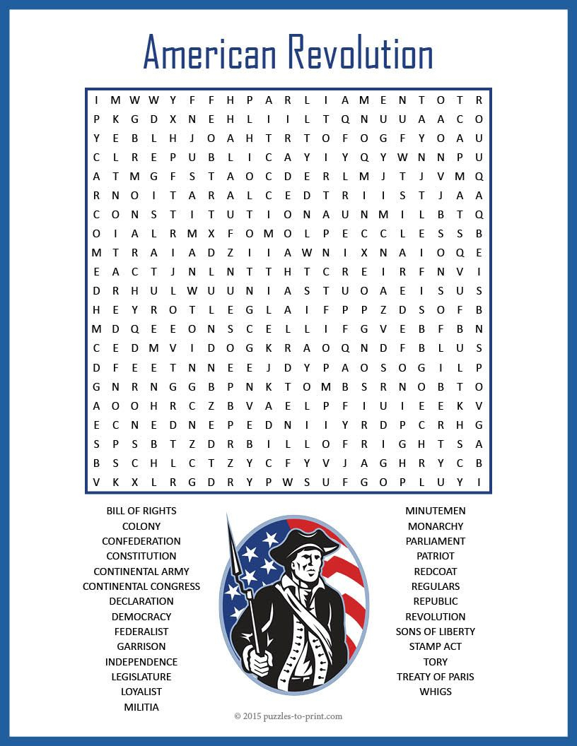 No Prep Us History Worksheet - American Revolution Word