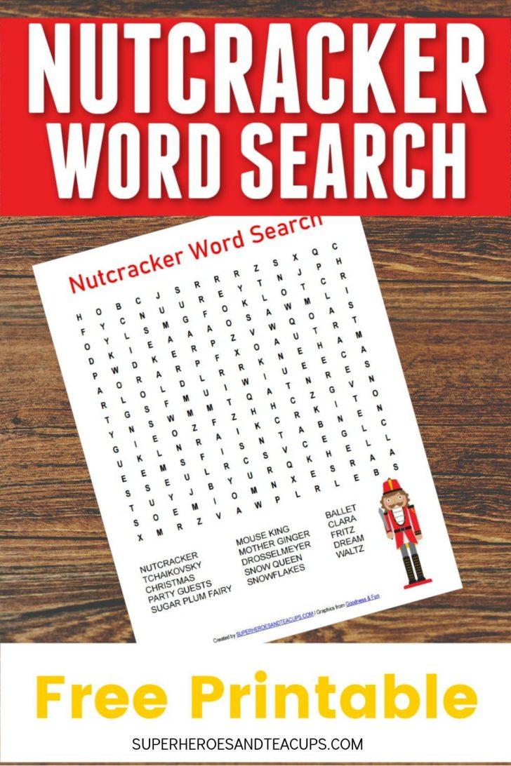 Nutcracker Word Search Printable