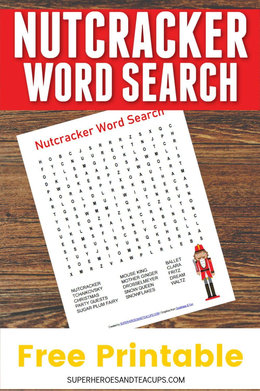 Nutcracker Word Search Free Printable | Fun Printables For