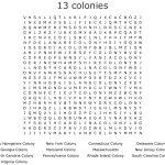 Original 13 Colonies Word Search   Wordmint
