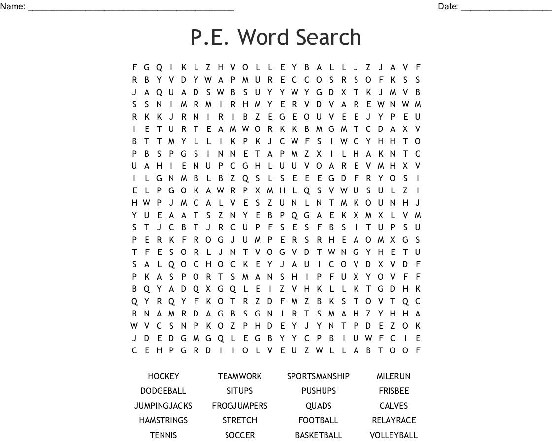 P.e. Word Search - Wordmint