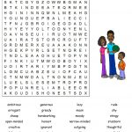 Personality Traits Word Search