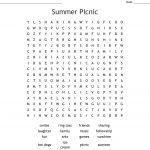 Picnic Wordsearch   Wordmint