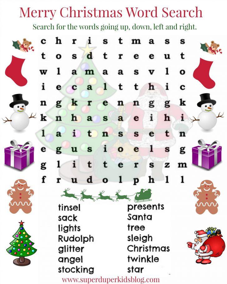 Printable Christmas Word Search Ks2