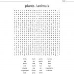 Plants /animals Word Search   Wordmint
