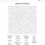 Plate Tectonics Word Search   Wordmint