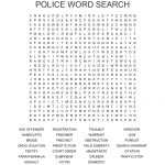 Police Word Search   Wordmint