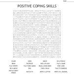Positive Coping Skills Word Search   Wordmint