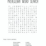 Pre Algebra Square Word Search Activity. Print It Out And