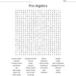 Pre Algebra Word Search   Wordmint