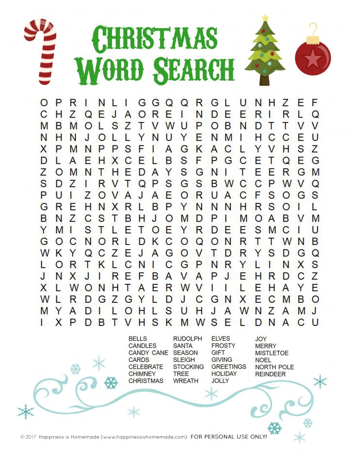 Christmas Printable Word Search Puzzles