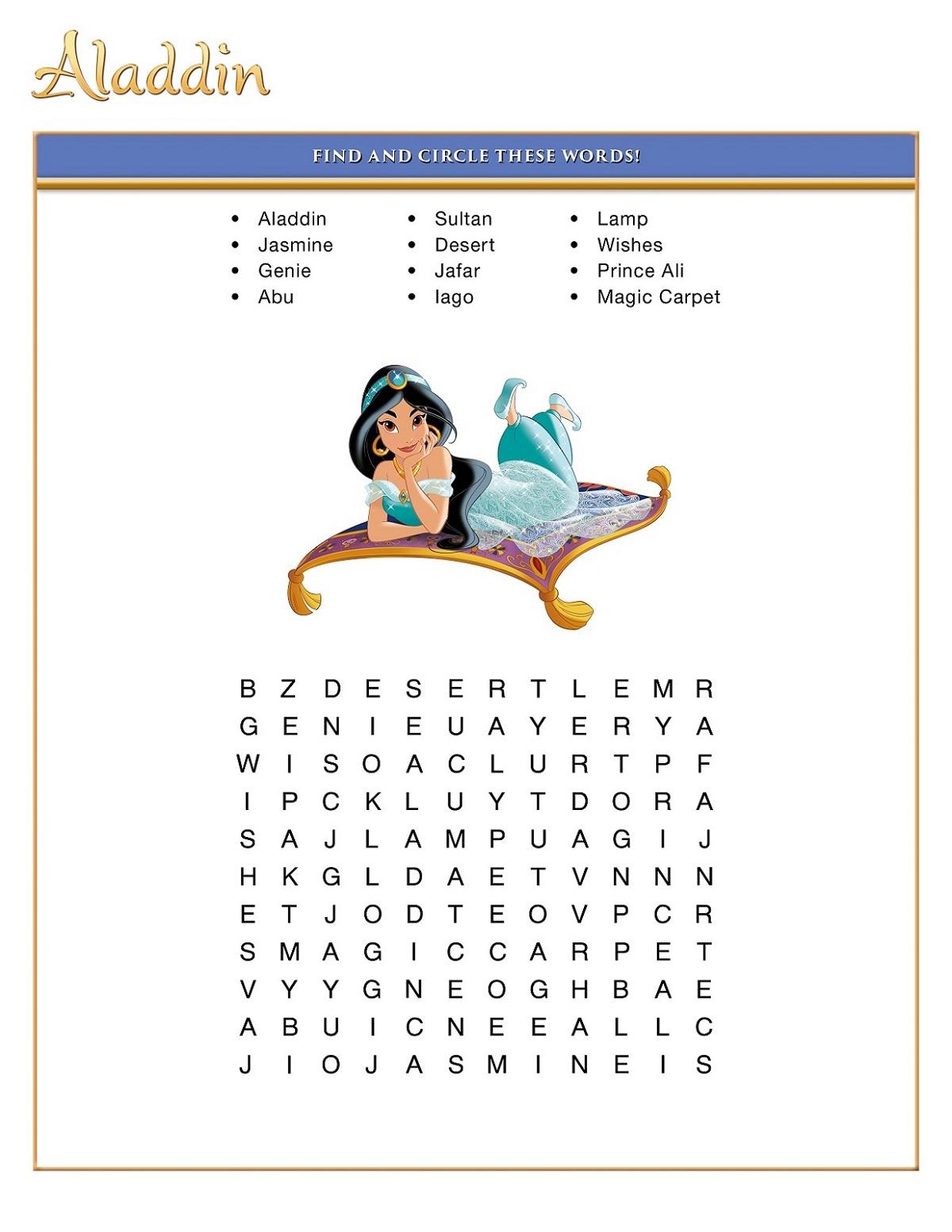 Printable Fun Disney Word Searches | 101 Activity