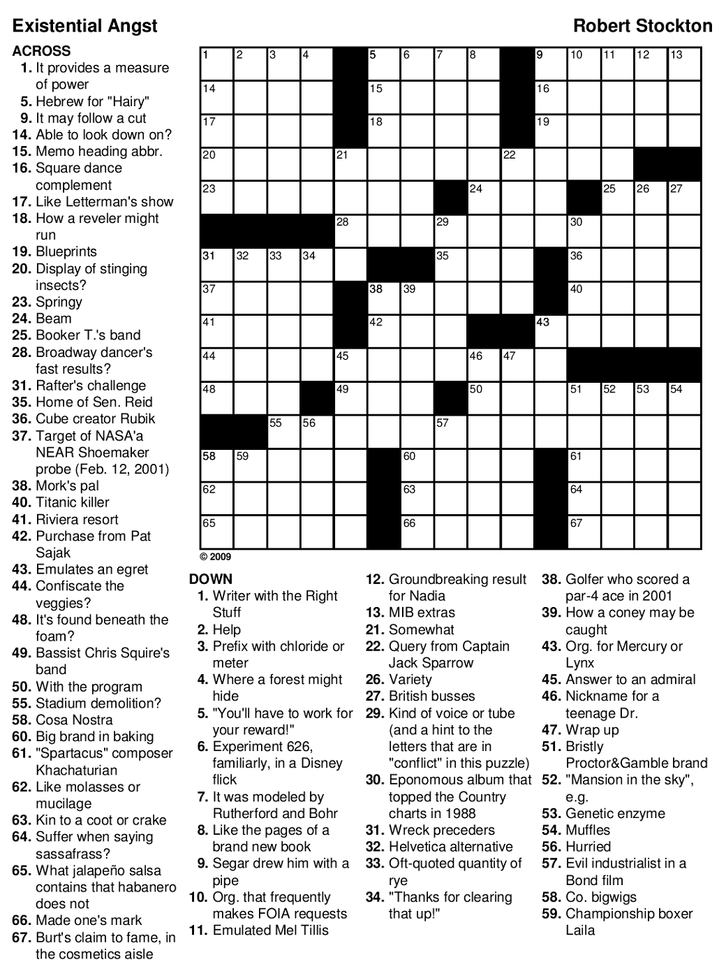 Printable Games For Adults | Printable Crossword Puzzles
